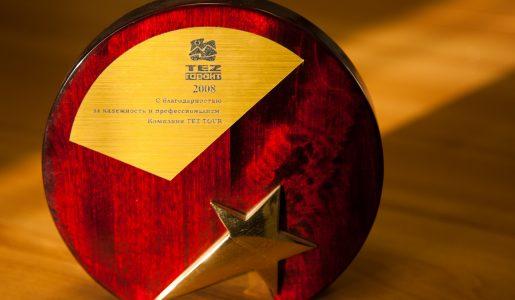 TEZ Гарант 2008 – С благодарностью за надежность и профессионализм – Виста Челябинск